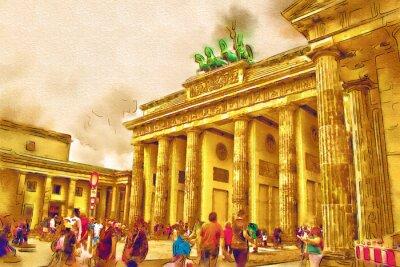 Quadro Berlim ilustração da arte