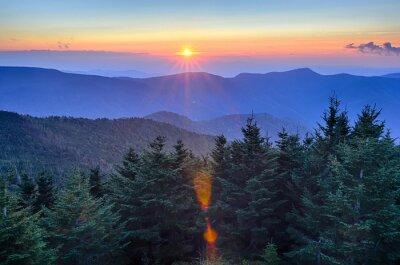 Quadro Blue Ridge Parkway Autumn Sunset over Appalachian Mountains