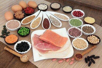 Quadro Body Building Dieta alimentar