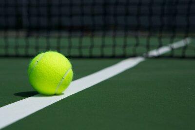 Quadro Bola de tênis com líquido no fundo