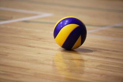 Quadro Bola de voleibol no chão