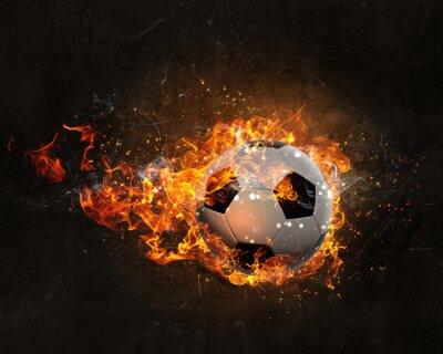 Quadro Bola, queimadura, fogo