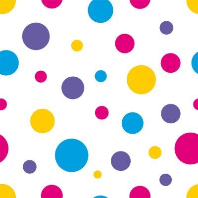 Quadro Bolinha Seamless fundo colorido