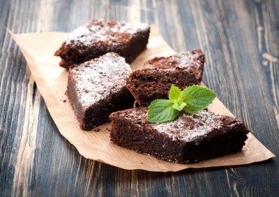 Quadro Bolo de chocolate brownie