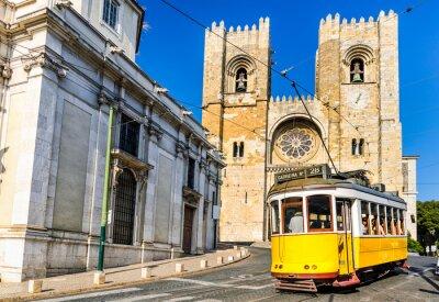 Quadro Bonde amarelo histórico de Lisboa, Portugal