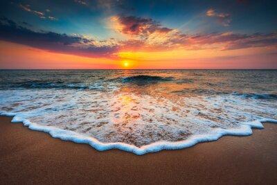 Quadro Bonito, amanhecer, sobre, mar