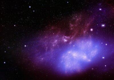 Quadro Bonito, fundo, noturna, céu, profundo, exterior, espaço