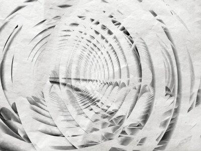 Quadro Branco espiral ilustração fundo abstrato