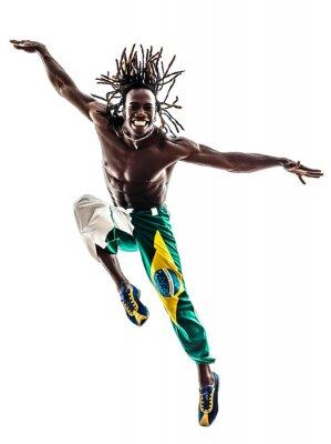 Quadro brasileira dançarina dança silhueta salto homem negro