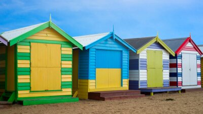Quadro Brighton caixas de praia, Melbourne, Austrália