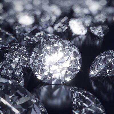 Quadro Brilhante Diamonds fundo