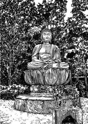 Quadro Buda de pedra