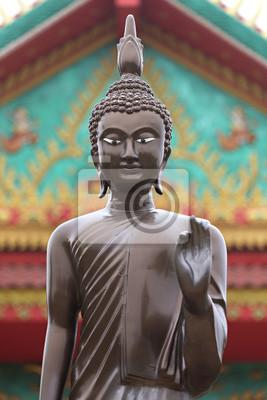 Quadro Buddha em um templo em Nakhon Ratchassima