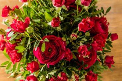 Quadro Buquê de rosas vermelhas