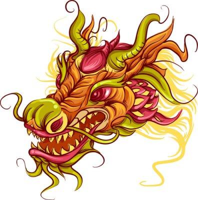 Quadro Cabeça de dragão chinês