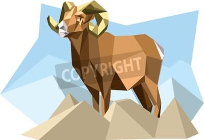 Quadro Cabra no estilo cubismo