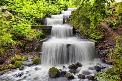 Quadro Cachoeira Cascata no parque Planten un Blomen em Hamburgo
