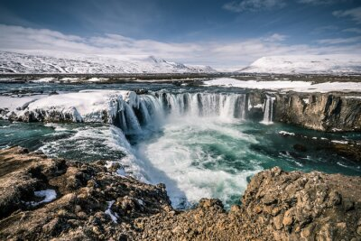 Quadro Cachoeira Godafoss na Islândia
