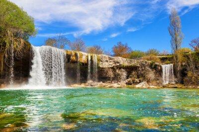 Quadro Cachoeiras do rio Jerea em Pedrosa de Tobalina, na província de Burgos, Espanha