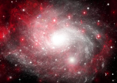 Quadro Campo de estrela no espaço e uma nebulosas