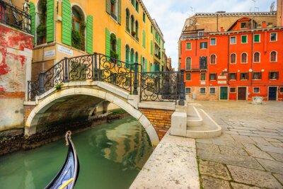Quadro Canal em Veneza, Itália