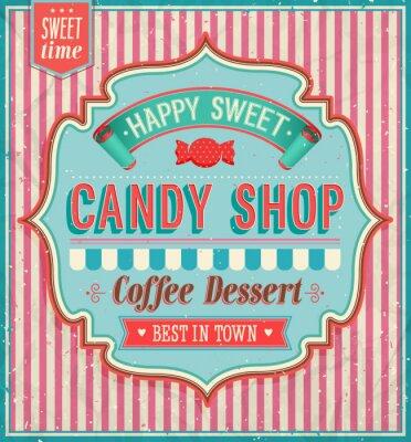 Quadro Candy shop - ilustração do vetor