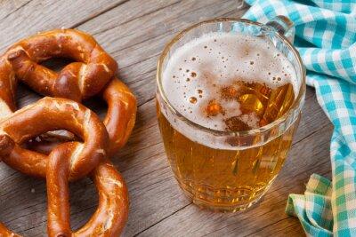 Quadro Caneca de cerveja e pretzel