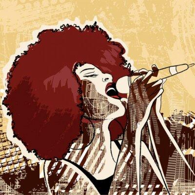 Quadro cantora de jazz
