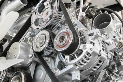 Quadro Car, motor, closeup, parte, car, motor