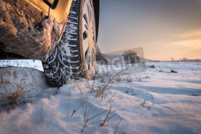 Quadro Car tires on winter road