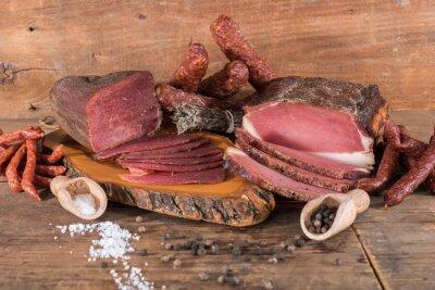 Quadro Carnes e salsichas defumadas