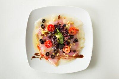 Quadro Carpaccio de bacalhau salada