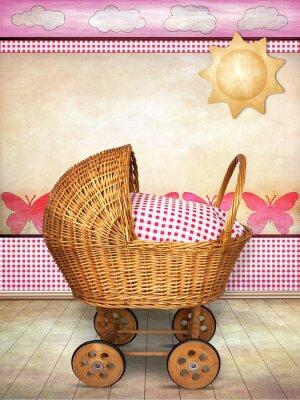 Quadro carrinho para bebê