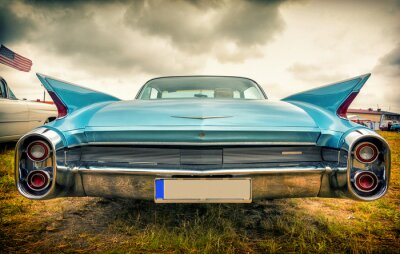 Quadro Carro americano velho no estilo do vintage