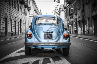 Quadro Carro azul velho