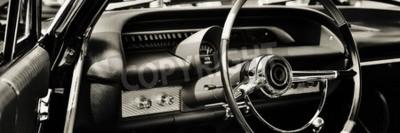Quadro Carro clássico fotografado do lado do motorista