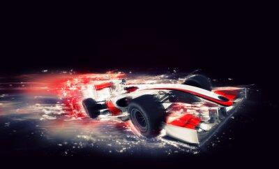 Quadro Carro de F1 genérico com efeito de velocidade especial