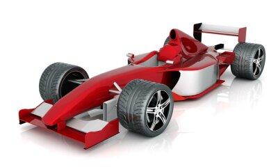 Quadro carro esporte vermelho imagem sobre um fundo branco