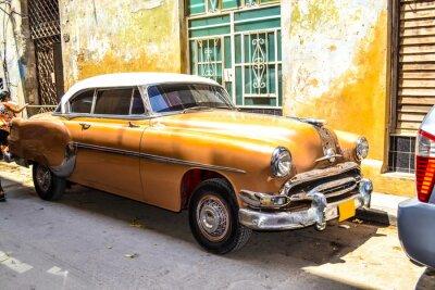 Quadro Carros americanos e soviéticos 1950 - 1960 de Havana.