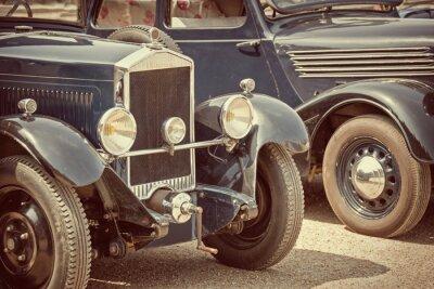 Quadro Carros antigos, processo do vintage