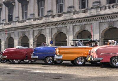 Quadro Carros clássicos americanos em Havana, Cuba