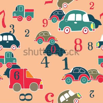 Quadro carros e dígitos