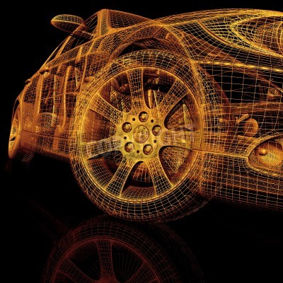 Quadro Carros modelo 3d