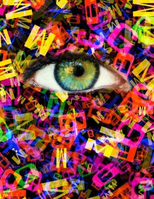 Quadro Carta dos olhos