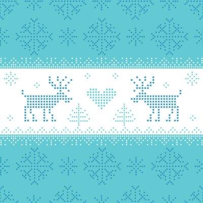 Quadro Cartão de Natal escandinavo - para o convite, papel de parede