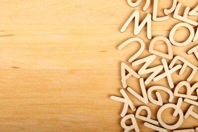 Quadro Cartas e números