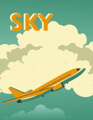 Quadro Cartaz do vintage do céu