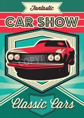 Quadro Cartaz vintage para a exposição de carros