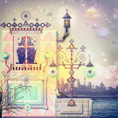 Quadro Casa Encantada no paraíso