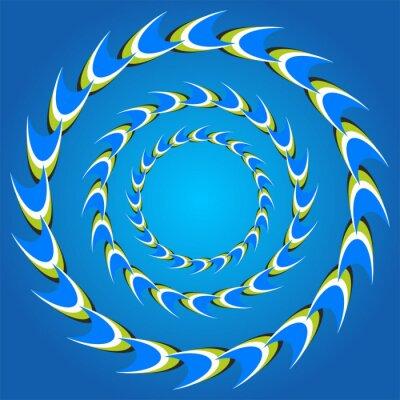 Quadro caudas círculo ilusão de ótica
